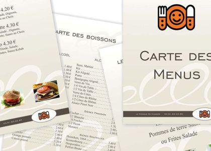 Cedsom Graphisme menu brasserie
